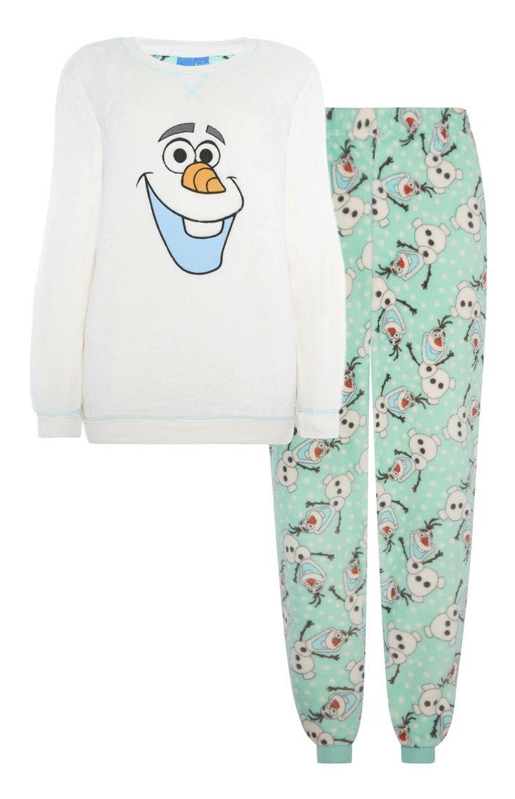 Primark - Frozen fleecepyjama met Olaf-print