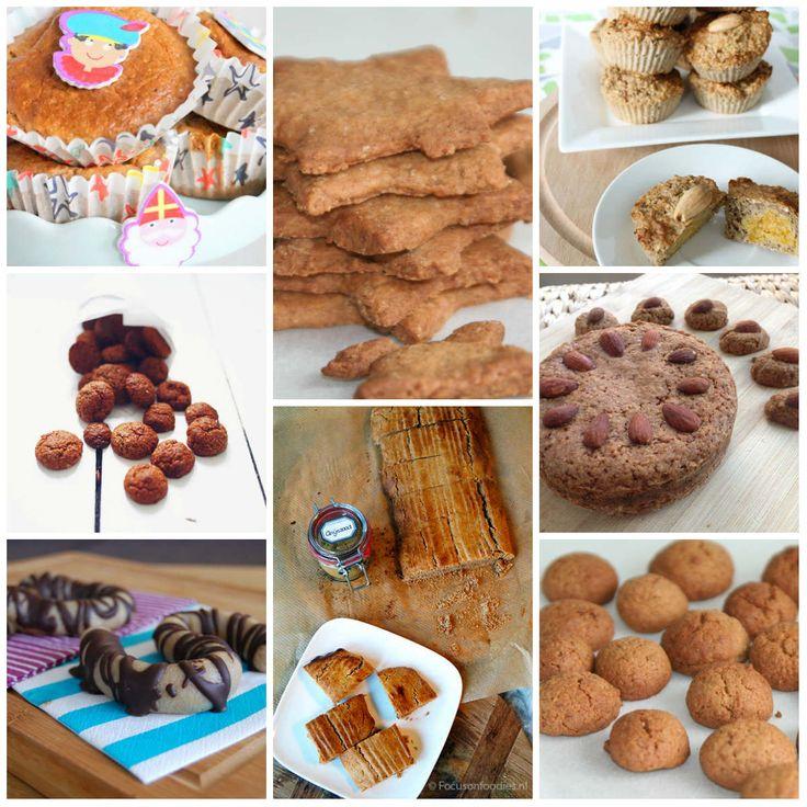 10 gezonde Sinterklaas recepten van pepernoten, taai taai, gevuld speculaas en muffins.