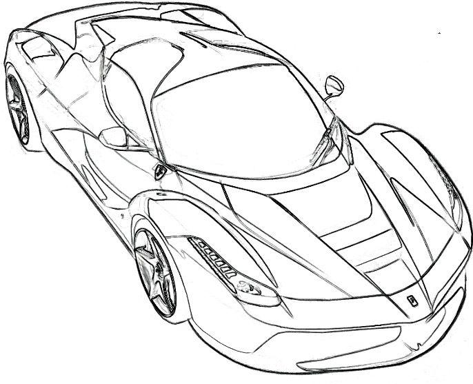 Ferrari Spider Coloring Page