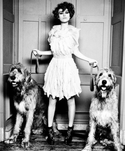 Keira Knightley and dogs