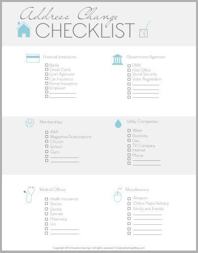 Pinterestu0027teki 25u0027den fazla en iyi Adres değişikliği fikri - printable address change form