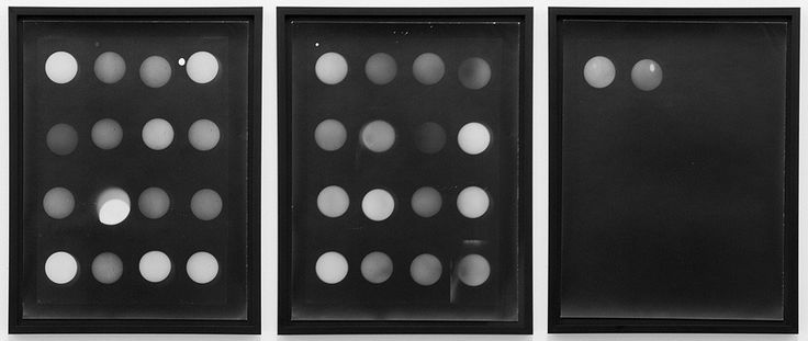 Photographs of the Sun by Aspen Mays, each row is a different month. but does it float