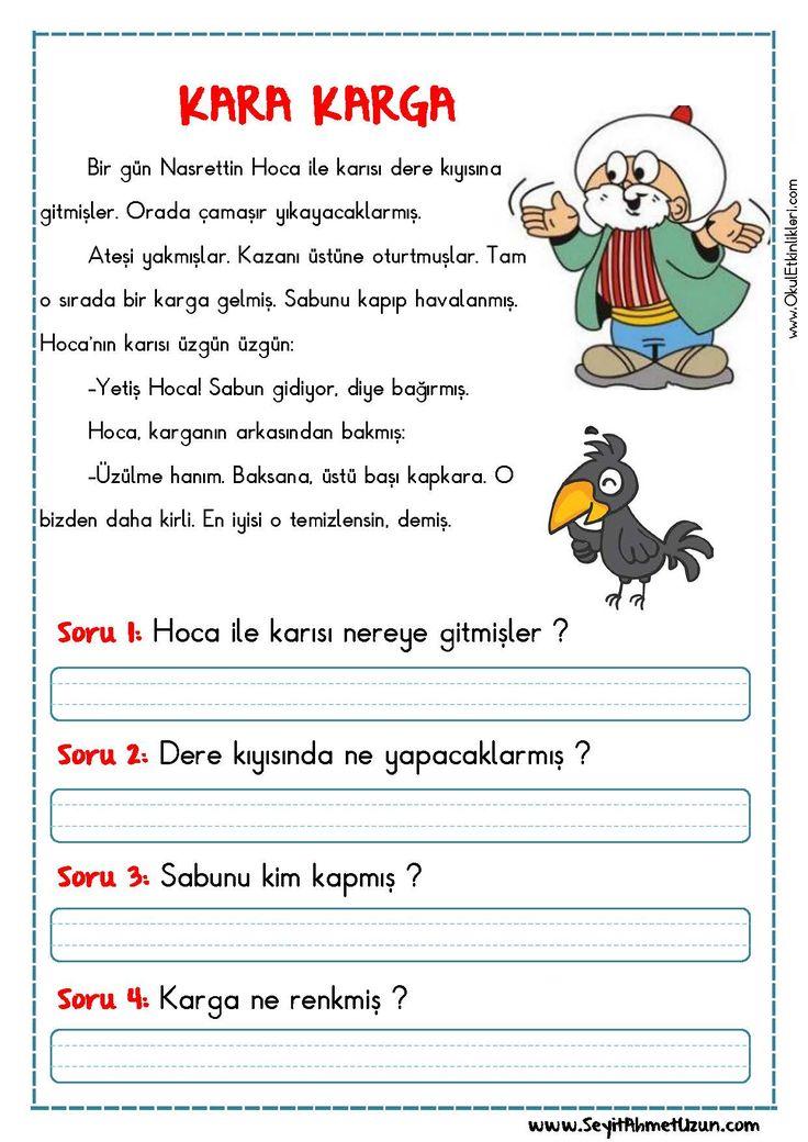OKUMA ANLAMA METNİ – KARA KARGA DOĞUM GÜNÜ Okuma anlama metni Özgün bir çalışma olarak pdf formatında hazırlanmıştır. Sitede bulunan çalışmaları özgün içerik olarak hazırlıyoruz...