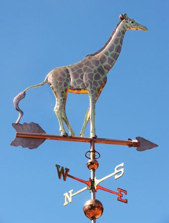 Giraffe Weathervane - Optional Gold Leafing