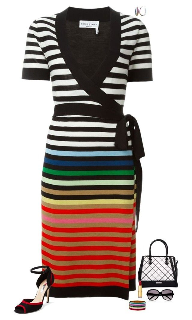 """Color & stripes"" by julietajj on Polyvore featuring Sonia Rykiel, Diane Von Furstenberg, Kardashian Kollection, Isaac Mizrahi, Chloé and Kate Spade"
