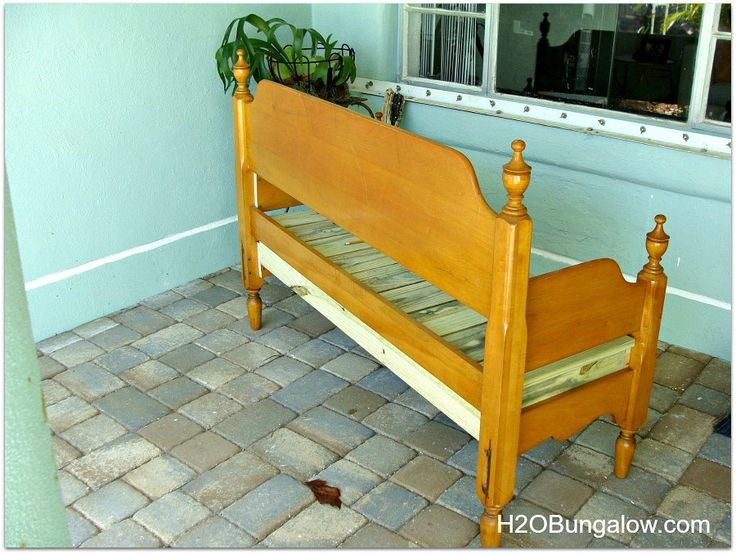 Best 25 headboard benches ideas on pinterest for Make a twin headboard