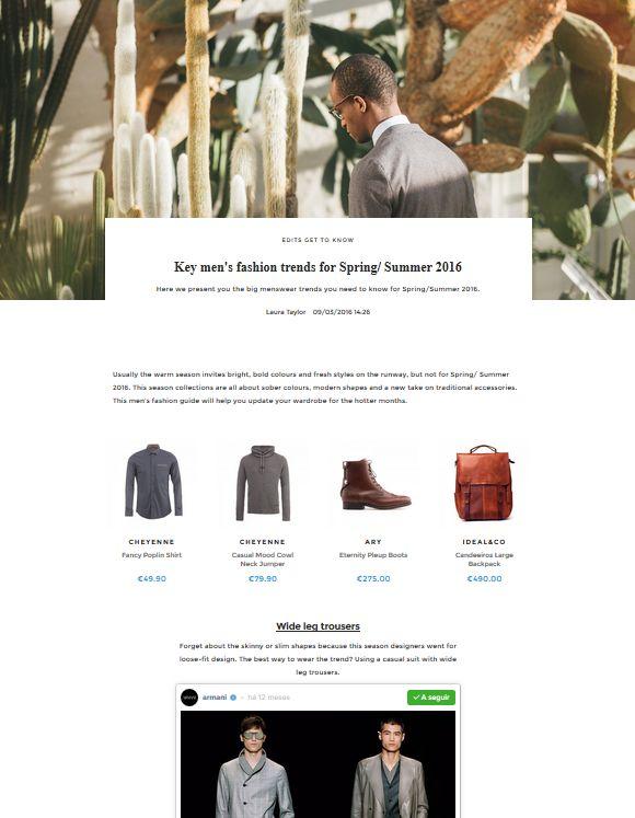 Key men's fashion trends for Spring/ Summer 2016 | UNIKSTORE Blog