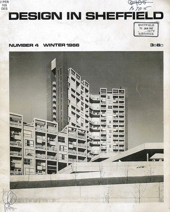 """Design In Sheffield"" (1966). Featuring Hyde Park in Sheffield, phase two of the Park Hill development."
