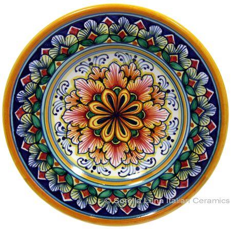 Ceramic Majolica Dipping Plate ~ Sorella Luna