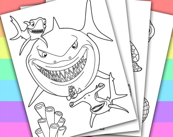 Finding Nemo  4 Coloring Pages  Disney  Pixar  by PetiteMonkey