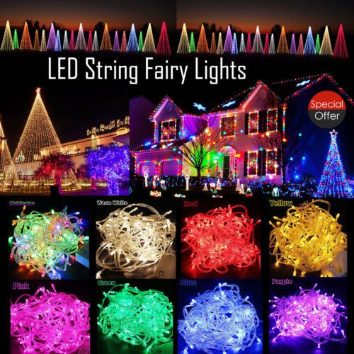 3m Micro LED Battery Operated String Lights Silver Copper Wire Xmas Decor Hot