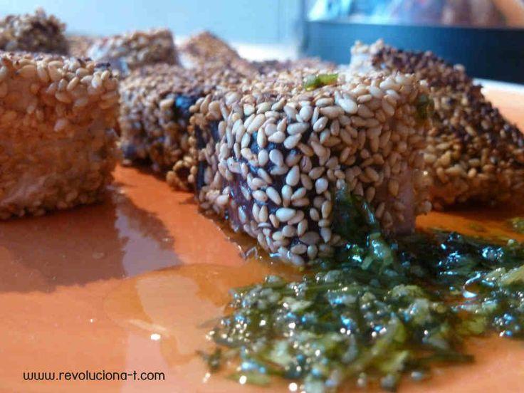 Tacos de Bonito del Norte crujientes con Mojo Verde