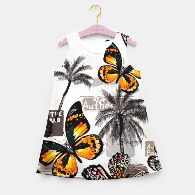 Girls summer dress with Butterflies