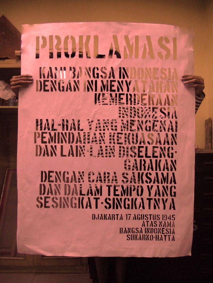 typography PROKLAMASI