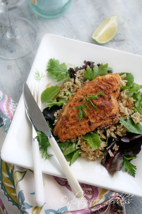 Gluten-Free Pan Fried Catfish | Gluten Free GoddessBrown Rice, Gf Golden, Catfish Recipe, Golden Fries, Fried Catfish, Gluten Free, Fries Catfish, Almond Meals, Coconut Flour