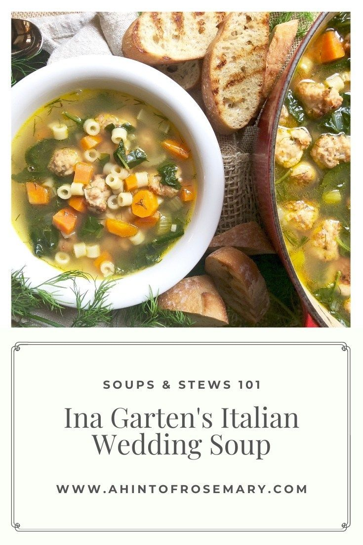 Ina Garten S Italian Wedding Soup Recipe In 2020 Wedding Soup Soup Italian Wedding Soup
