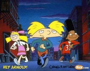 Hey Arnold!   I will never grow up.  Reminds me of when my daughter was younger and we watched this show together.....