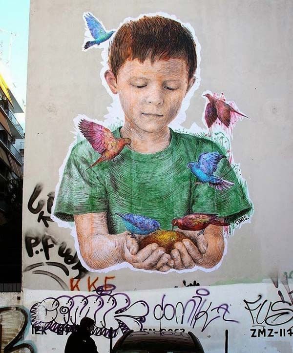 Street art in Athens, Greece by STMTS