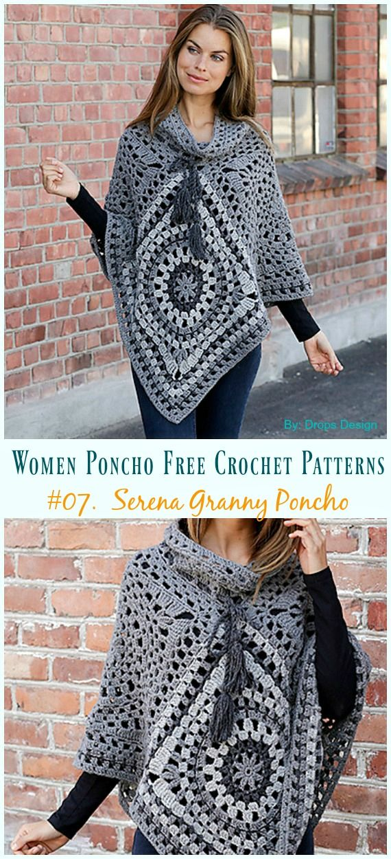 Women Poncho Free Crochet Patterns Crocheting And Knitting
