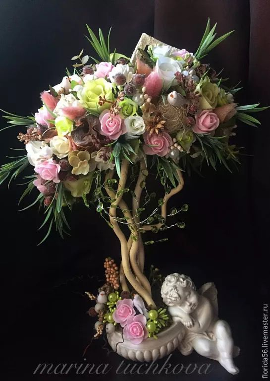 """Купить Винтажное дерево """" Мой ангел..."""" - бледно-розовый, купить подарок"""