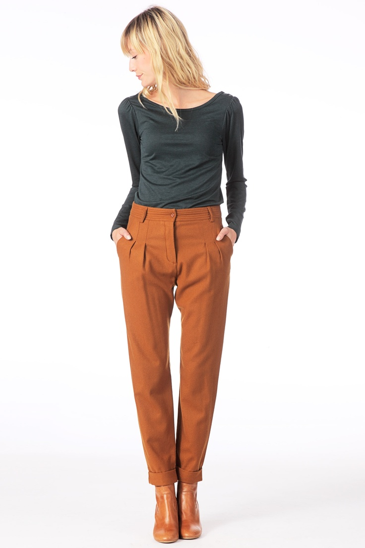 Pantalon carott en laine The Return Cognac Sessun
