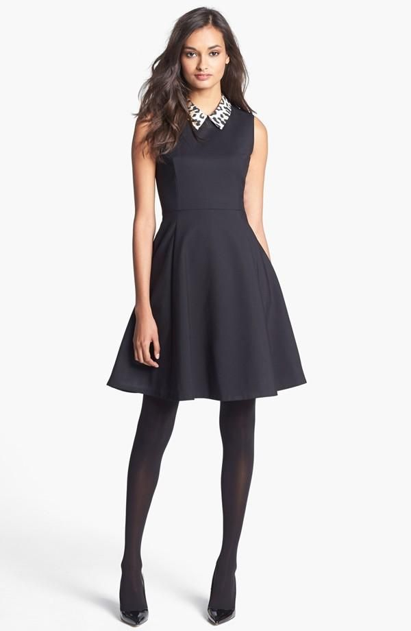 Holiday party dress + Black Friday Deal: Kate Spade New York 'rissa' cotton blend fit & flare dress
