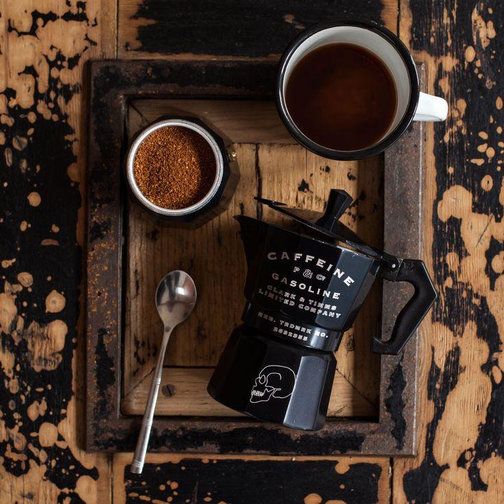 Caffeine & Gasoline Moka Pot