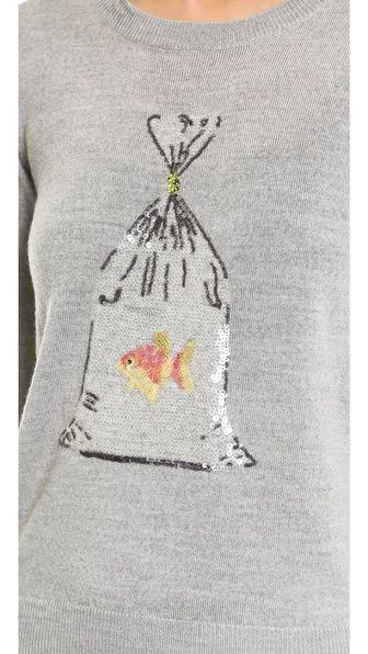 Markus Lupfer Prize Fish Sequin Grace Sweater