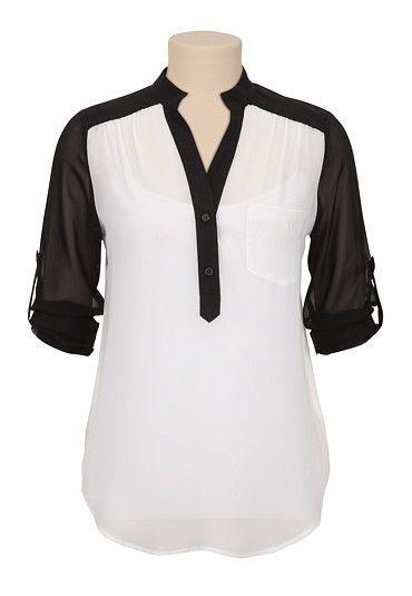 Hermosa blusa de chiffon
