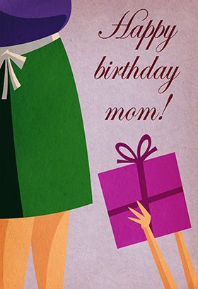 """""""Happy birthday mom"""" printable card. Customize, add text and photos. print for free!"""