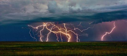Avoid lightening bolt strikes.