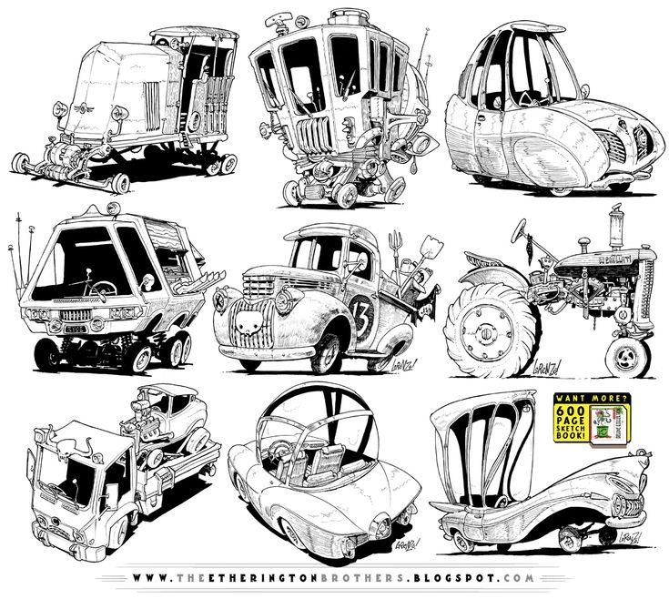 9 Monster Vehicle concepts by STUDIOBLINKTWICE.deviantart.com on @deviantART