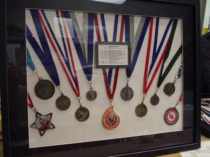 Custom Framed Medal Display