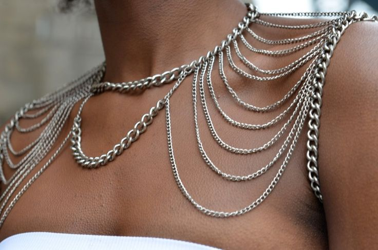 Two Faced Shoulder Chain Chain. $110.00, via Etsy.