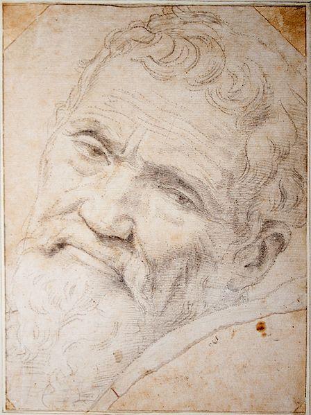 Daniele da Volterra: Retrato de Michelangelo, c, 1553. Museu Teyler, Haarlem.