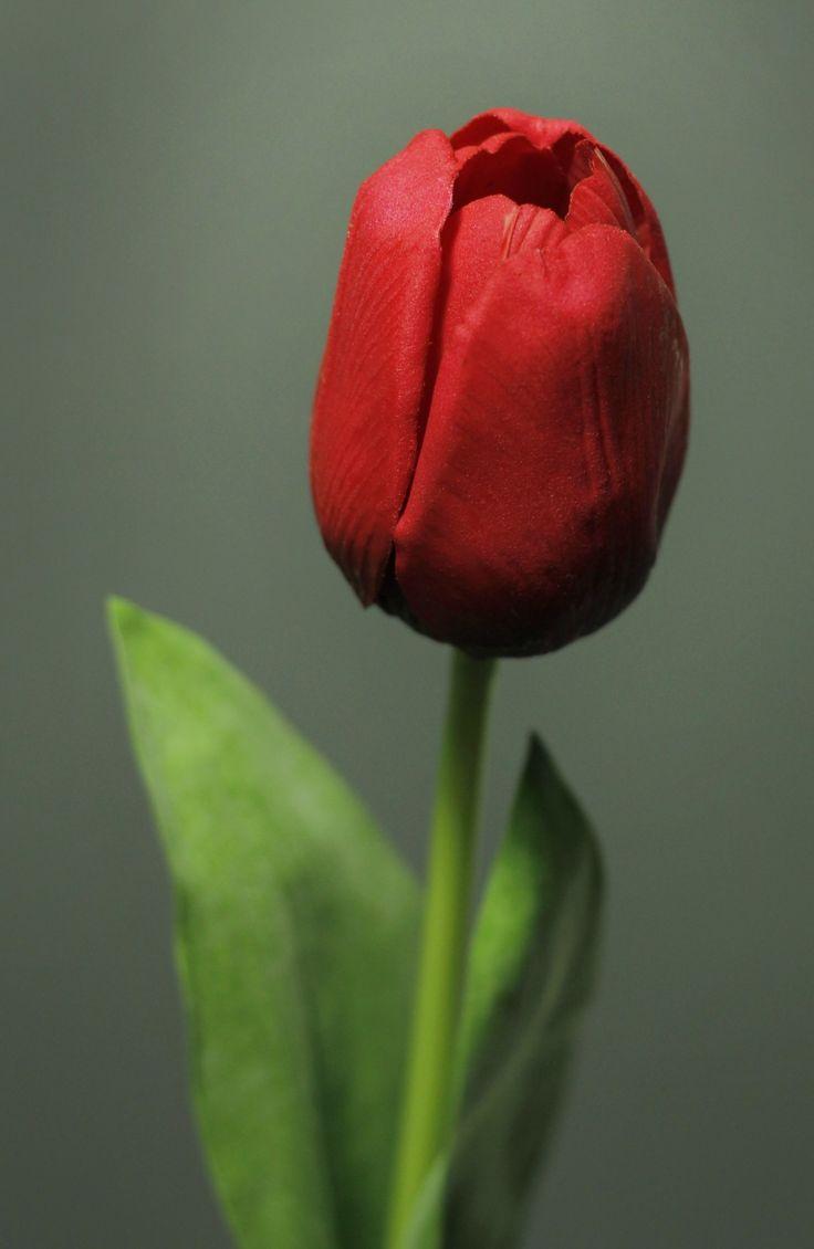 Tulp rood http://kunstbloemenennaaldhakken.nl/product/roze-tulp-natural-touch/