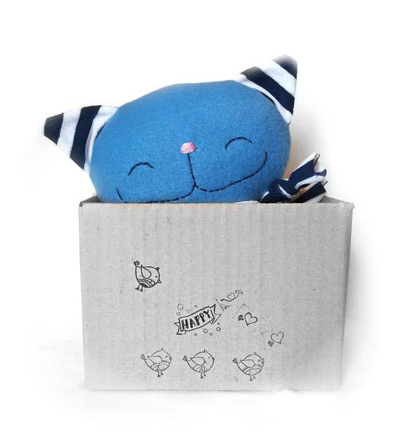 Cat rag doll, stuffed animal, plush cat, stuffed toy, stuffed cat, toddler gift, toddler toy, baby shower gift, handmade soft cat, cute cat