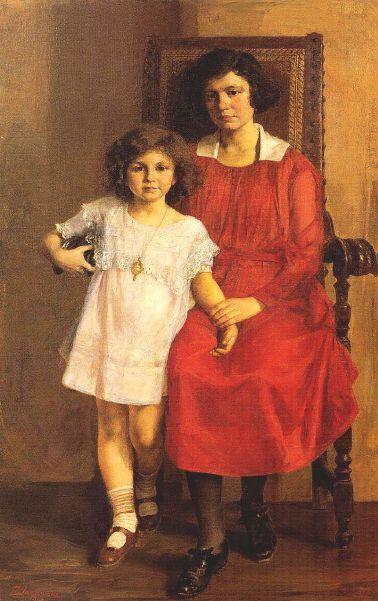 Mother and Daughter .Georgios Iakovidis (1853 – 1932, Greek)