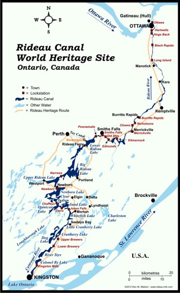 The Rideau Canal, Ontario Canada