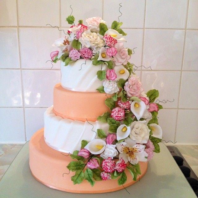 Spring Flower Wedding Cake