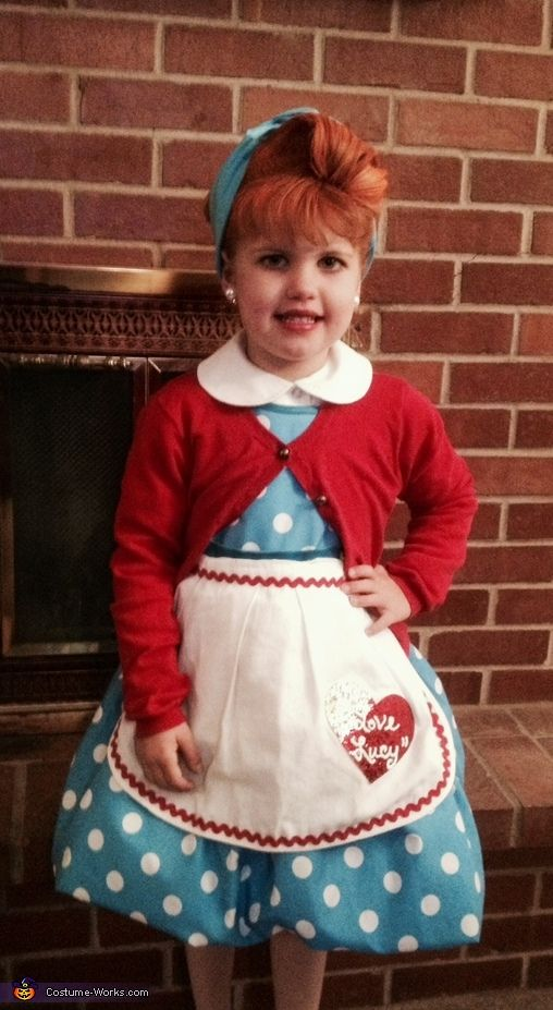 Kerri: My daughter Kinley is wearing a simple easy to put together I Love Lucy costume. I found a cheap blue polka dot dress on ebay, added a red sweater and...