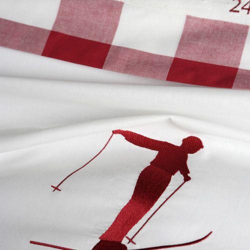 Housse de couette en coton vichy Le grand saut rouge