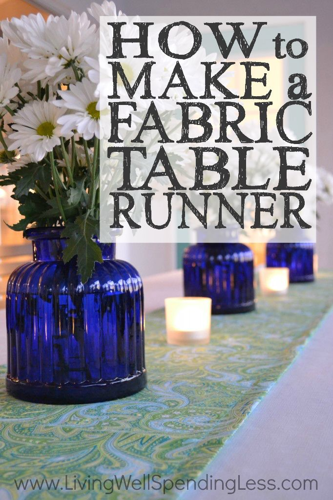 Want to freshen up your decor for not a lot of cash?  Check out these step-by-step instructions for how to make a fabric table runner.  Perfect for a party or just to celebrate everyday!