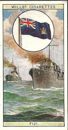 Will's Cigarette Card Flags of The Empire - Flag of Fiji| eBay