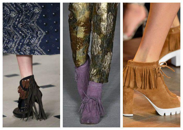 Модная обувь: сапоги и ботильоны с бахромой