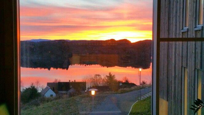 Fantastic sunrise at Fauskanger