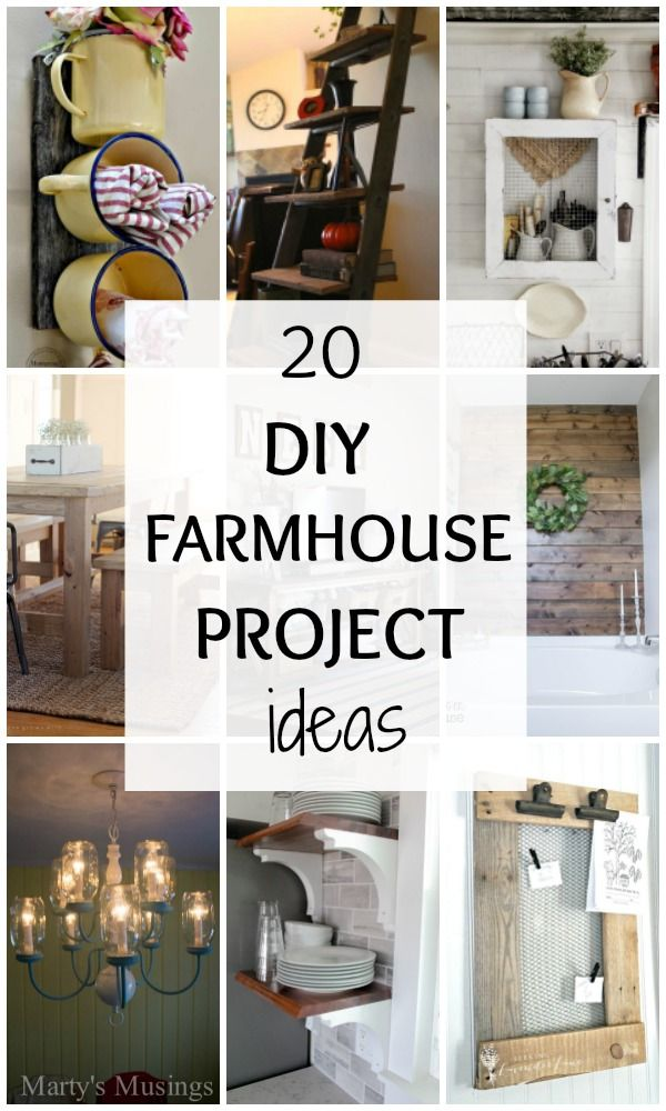 Love farmhouse style?? Then we have THE BEST Farmhouse DIY Tutorials for you! 20 DIY Farmhouse Project Ideas via A Blissful Nest. http//:ablissfulnest.com