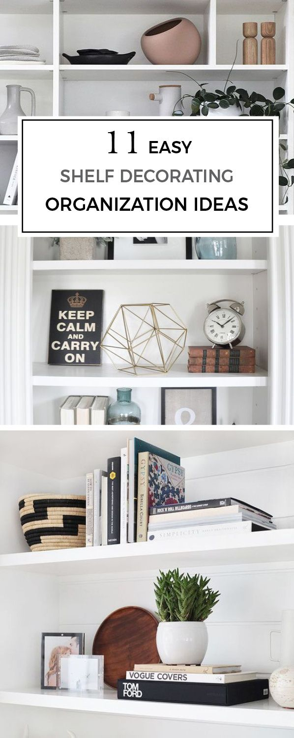 Check out these 11 east shelf decorating organization ideas | Scandinavian Design Interior Living | #scandinavian #interior #easy #shelf #organization #decorating