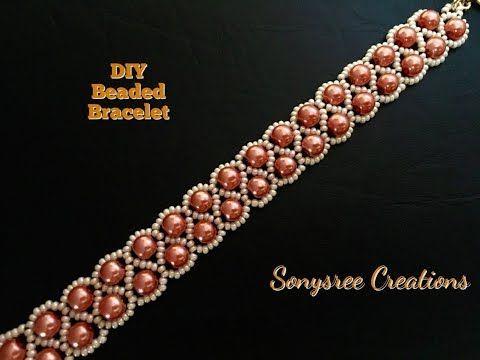 DIY Beaded bracelet Zigzag pattern ( EASY METHOD)  - YouTube