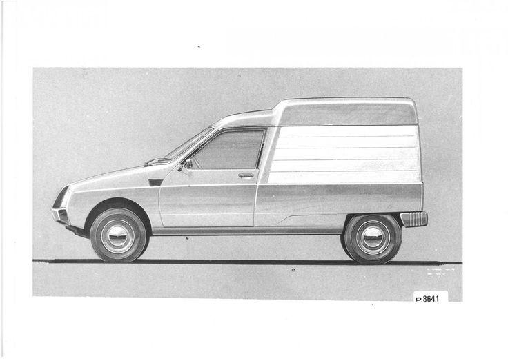 Citroen C15 proposal by Regis Gromik in 1975